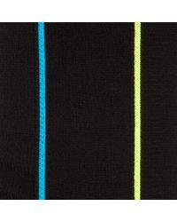 Paul Smith | Men's Neon Vertical Striped Black Socks for Men | Lyst