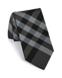 Burberry | Gray 'clinton' Cotton & Silk Tie for Men | Lyst