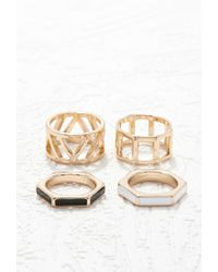 Forever 21 | Metallic Cutout Ring Set | Lyst