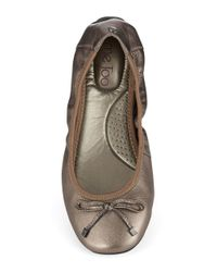 Me Too | Halle Metallic Leather Ballet Flats | Lyst
