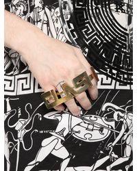 KTZ | Metallic Clash 4 Finger Ring | Lyst