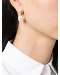 Delfina Delettrez | Metallic Pearl 'piercing' Earring | Lyst