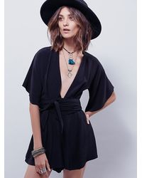 Free People | Black Bec & Bridge Womens Bon Bon Playsuit | Lyst