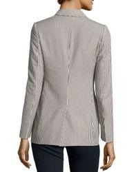 Stella McCartney - Blue Striped Seersucker Jacket - Lyst