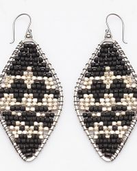 Nakamol - Multicolor Ambre Earrings-black/silver - Lyst