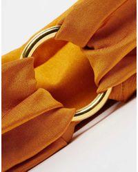 ASOS | Orange 70s Circle Turban Headband | Lyst