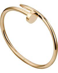 Cartier | Metallic Juste Un Clou 18Ct Pink-Gold Bracelet | Lyst