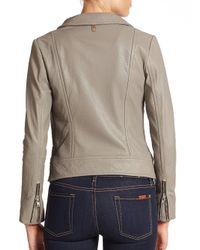 Mackage - Gray Lisa Leather Jacket - Lyst