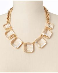 Ann Taylor | Red Crystal Necklace | Lyst