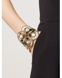 Ziio | Metallic Beaded Cuff | Lyst