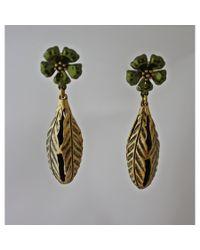 Lulu Frost | Green Bloom Pod Earring | Lyst