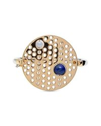 Uribe | Metallic Semiprecious Stone & Perforated Disc Hinged Bracelet | Lyst