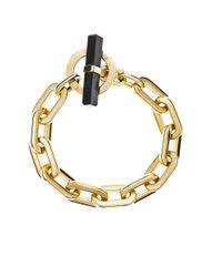 MICHAEL Michael Kors | Metallic Cityscape Chains Black Agate Toggle Bracelet | Lyst
