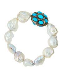 Bavna | White Freshwater Pearl | Lyst