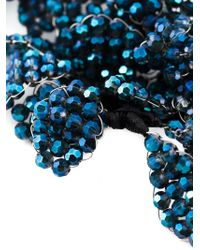 Night Market | Blue Floral Crystal Necklace | Lyst