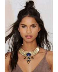 Nasty Gal | Metallic From St. Xavier Jacinta Collar Necklace | Lyst