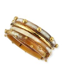 Ashley Pittman | Metallic Kamata Horn & Bronze Bangles | Lyst