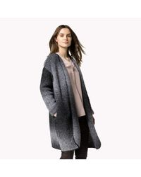 Tommy Hilfiger | Gray Wool Boucle Coat | Lyst
