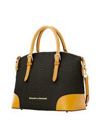 Dooney & Bourke | Black Claremont Python Dome Satchel Bag | Lyst