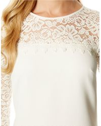 Laundry by Shelli Segal | White Lace Shift Dress | Lyst