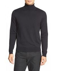 Calibrate | Black Silk Blend Turtleneck Sweater for Men | Lyst