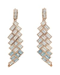 Nak Armstrong | Natural Aquamarine & Rainbow Moonstone Mosaic Long | Lyst