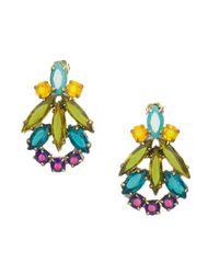 Doloris Petunia | Metallic Bahai Crystal Earrings | Lyst