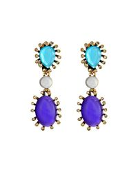 Oscar de la Renta - Purple Star Earring - Lyst