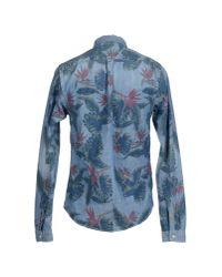 Scotch & Soda - Blue Denim Shirt for Men - Lyst