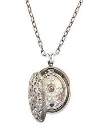 Roberto Coin | Metallic 18k Diamond Granada Locket Necklace | Lyst