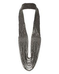TOPSHOP | Metallic Bead Drape Necklace | Lyst
