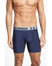 Under Armour | Blue Heatgear Boxer Briefs for Men | Lyst