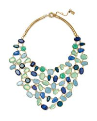 Lauren by Ralph Lauren | Green Signature Swarovski Crystal Bib Necklace | Lyst