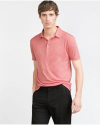 Zara | Red Knit Polo Shirt for Men | Lyst