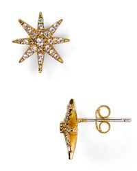 Elizabeth and James | Metallic Compass Rose Stud Earrings | Lyst
