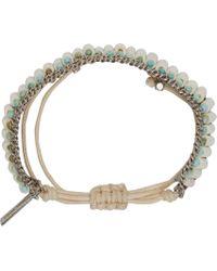 Isabel Marant | Blue Bone And Turquoise Pottery Beaded Bracelet | Lyst