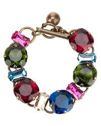 Lanvin - Multicolor Multicolour Gem Bracelet - Lyst
