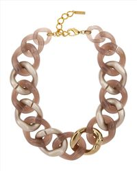 Jaeger | Brown Resin Chunky Necklace | Lyst