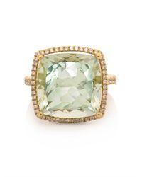 Kiki McDonough - Green Diamond Amethyst Gold Ring - Lyst