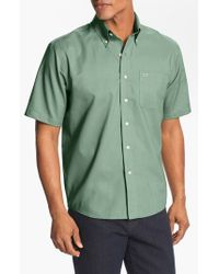 Cutter & Buck | Green 'nailshead' Classic Fit Epic Wrinkle Free Sport Shirt for Men | Lyst