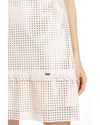 Liu Jo | White Laser-Perforated Dress | Lyst