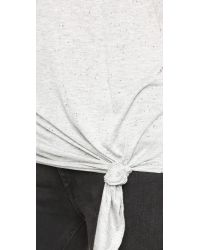 Cheap Monday - Gray Tie Tee - Black - Lyst