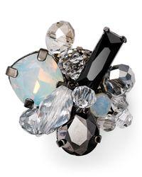 Aqua | Gray Padma Cluster Pin | Lyst