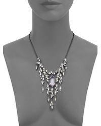 Alexis Bittar - Metallic Miss Havisham Liquid Crystal Broken Glass Cascade Bib Necklace - Lyst