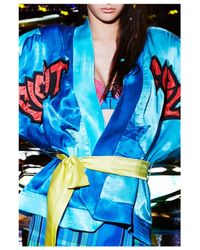 House of Holland | Blue Star Kimono | Lyst