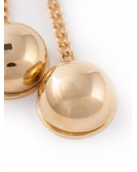 Chloé - Metallic 'Ellie' Brass Pendant Necklace - Lyst