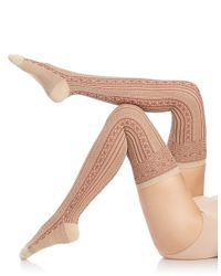 Free People | Natural Patterned Over-the-knee Socks | Lyst
