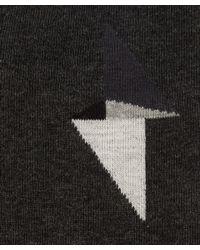 Nudie Jeans - Orange Grey Melange Flash Sock - Lyst