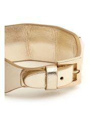 Valentino - Metallic Rockstud Large Leather Bracelet - Lyst