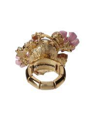 Betsey Johnson - Pink Spring Glam Stone Cluster Flower Ring - Lyst